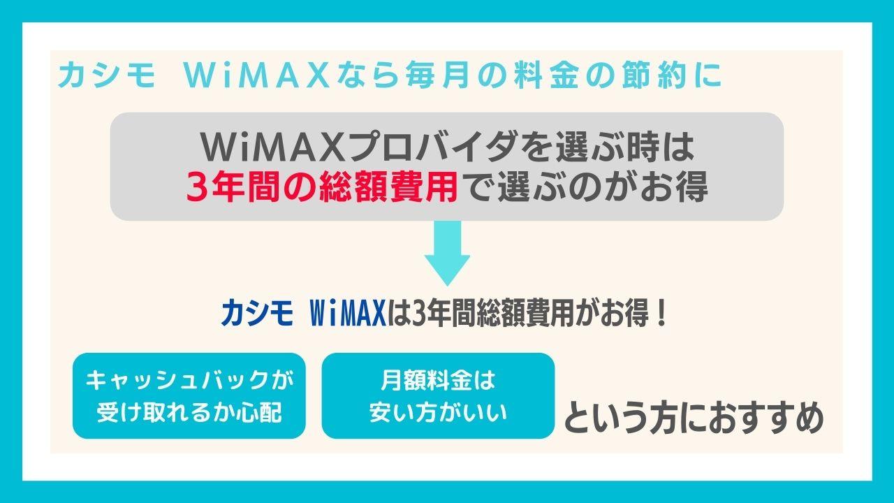 実はどのプロバイダのWiMAXを選んでも速度は同じ!カシモWiMAXの魅力は月額料金の安さ!