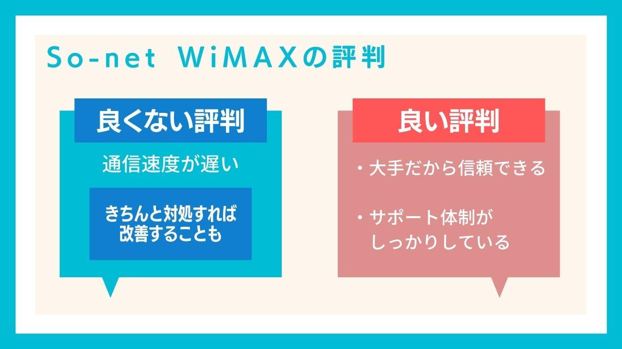 申込み前に知っておきたいSo-net WiMAXの評判