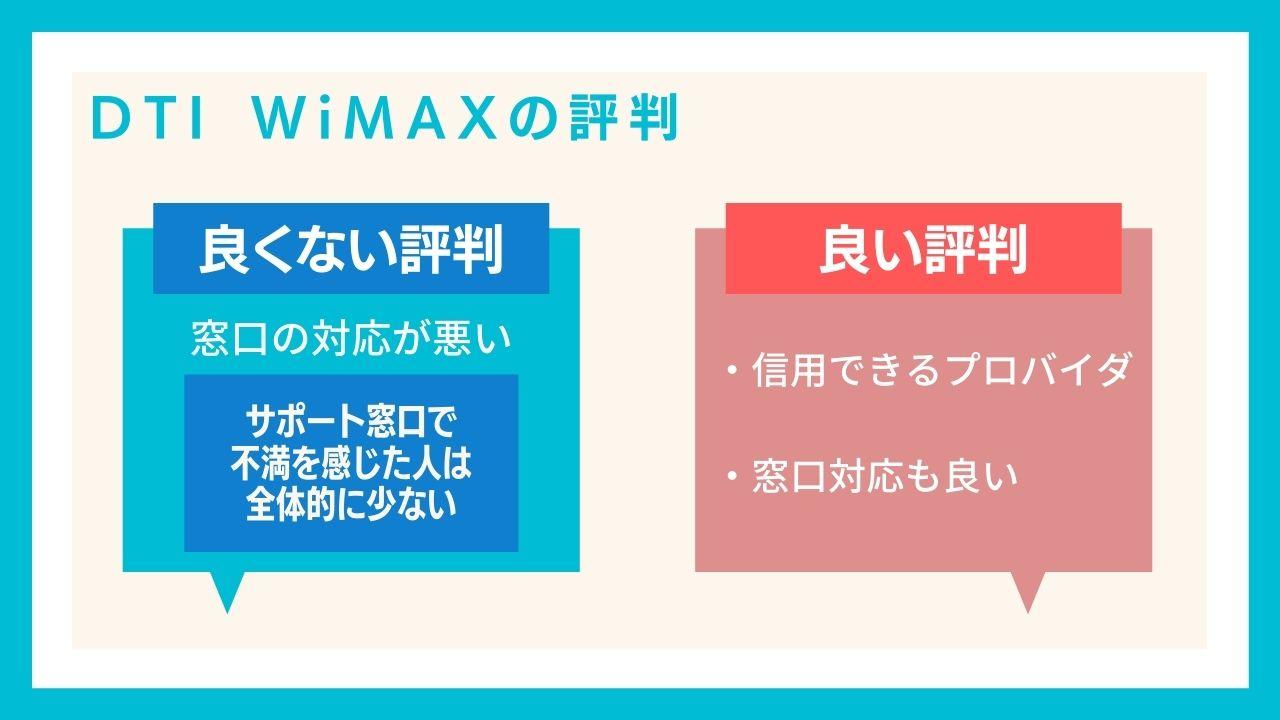 DTI WiMAXの評判