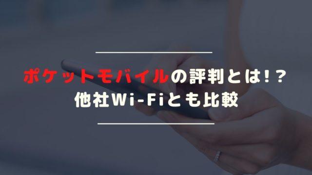 ポケットモバイルの評判とは?月間100GBまで利用可能な大容量Wi-Fiが登場!