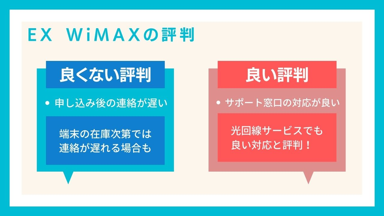 EXWiMAXの評判