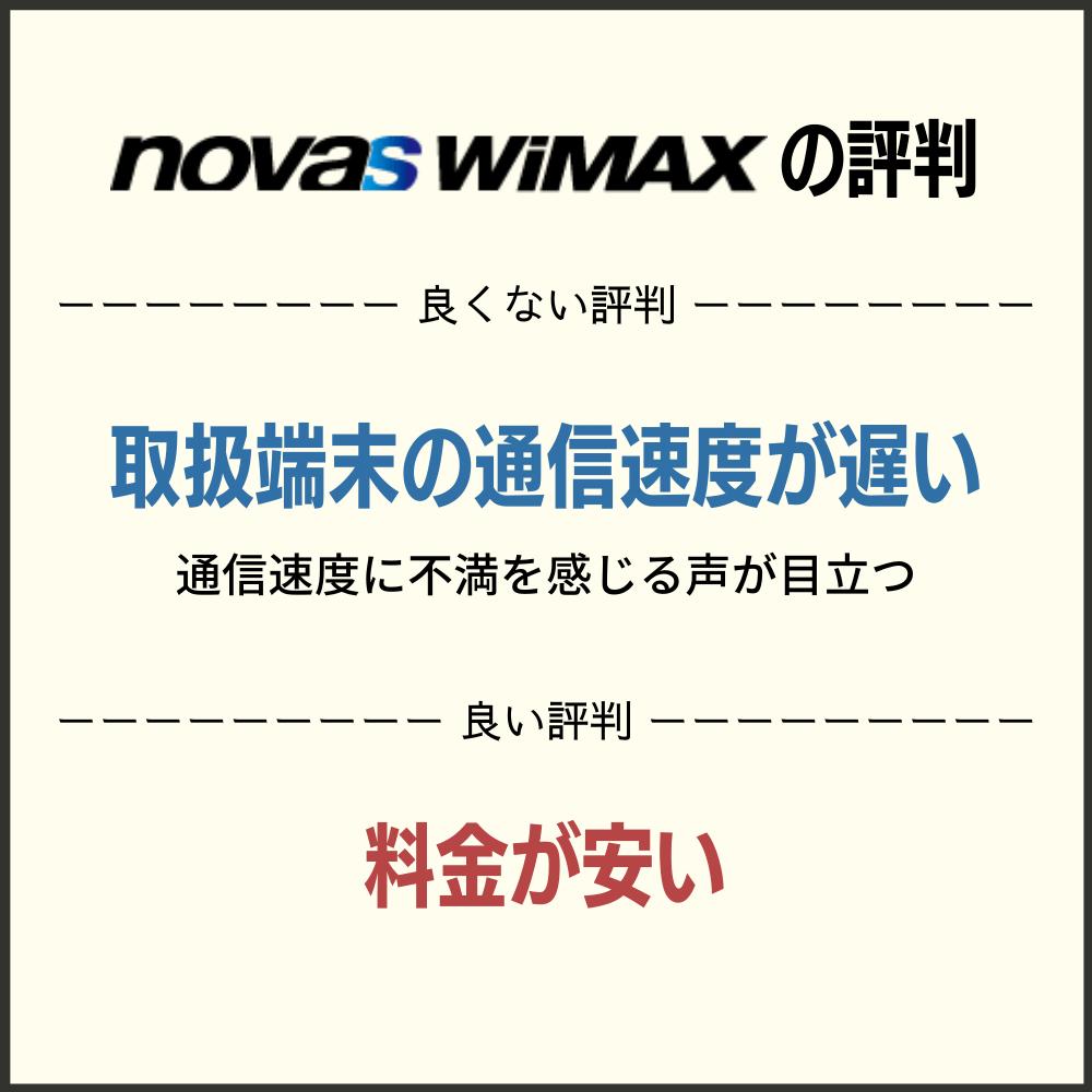 novas WiMAXの評判