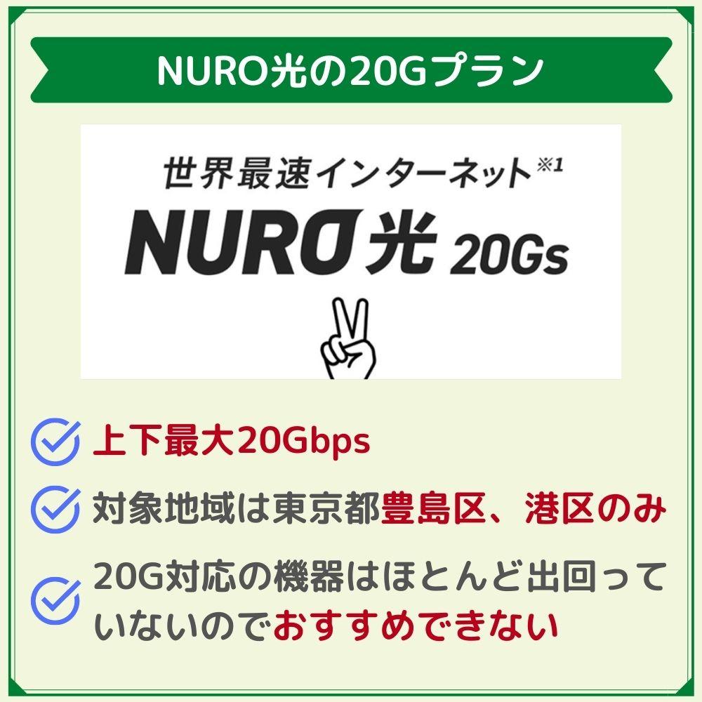 NURO光20Gプランもおすすめできない?